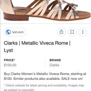 dbdd1416ac39 Shoes Gladiator Size Metallic Clarks 7 Poshmark Vivica Gold Rome pnT1Bqd